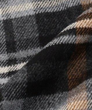 JOSEPH ABBOUD 【Made in Italy】タータンチェック マフラー ブラック系4