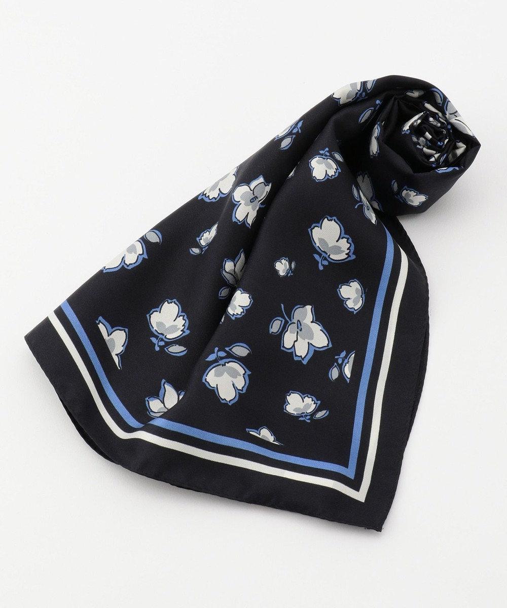 自由区 フラワープリント スカーフ ブラック系5