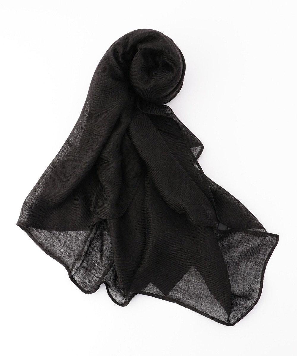 ICB Wool Silk ストール ブラック系