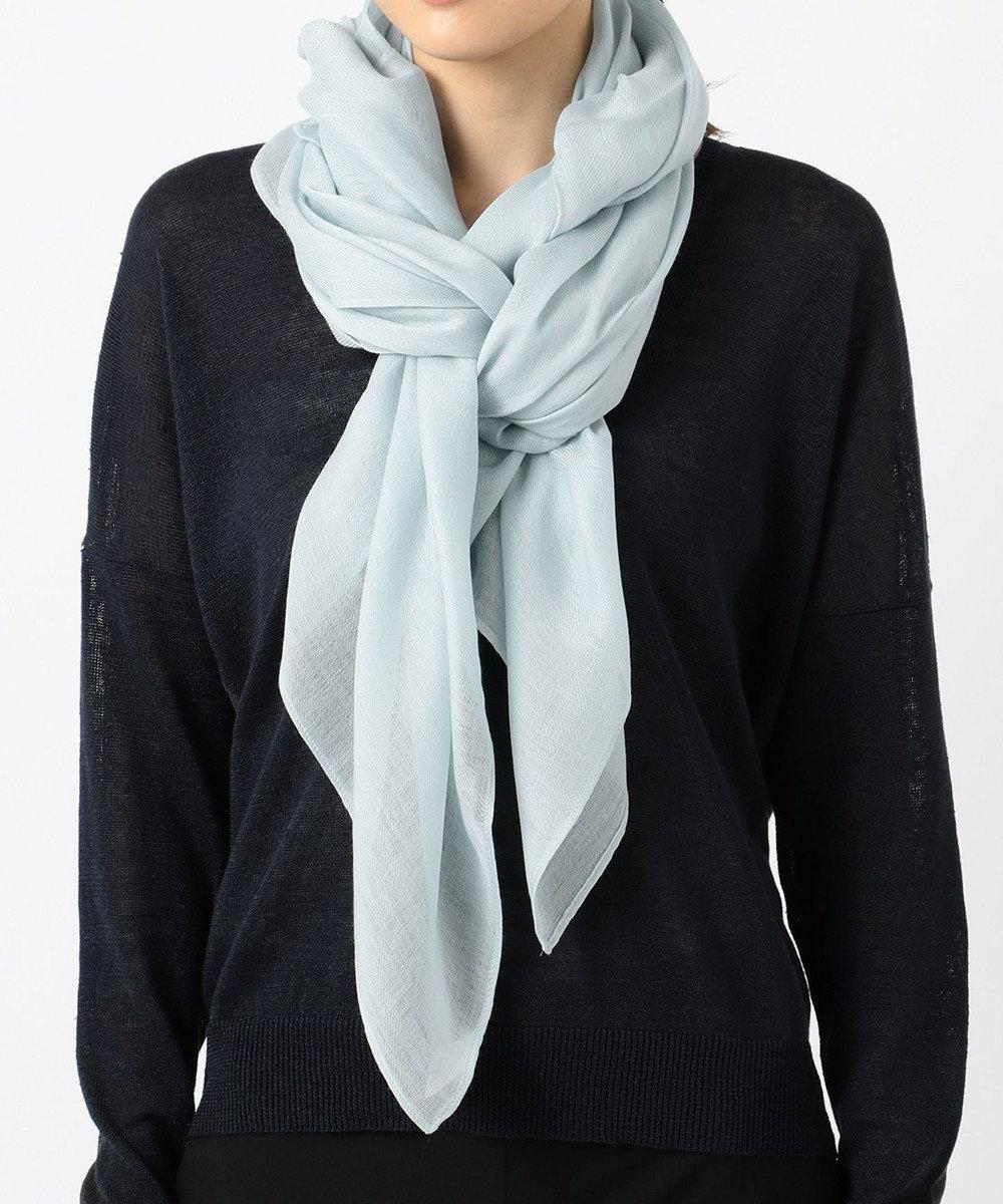 ICB Wool Silk ストール スカイブルー系