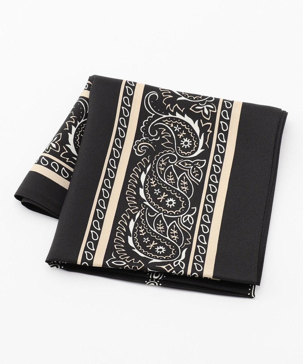 23区 【SLOW】ペイズリープリント スカーフ ブラック系