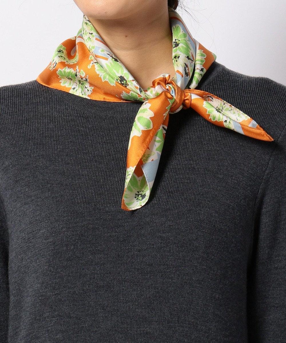 TOCCA SILK SCARF スカーフ オレンジ系