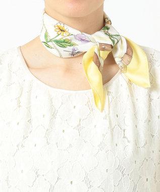 any SiS 【美人百花4月号掲載】ベルトフラワー スカーフ ライトイエロー系