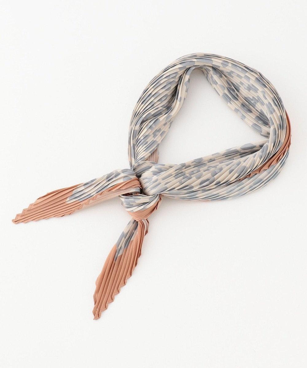 any SiS 【美人百花11月号掲載】レオパードプリーツ スカーフ キャメル