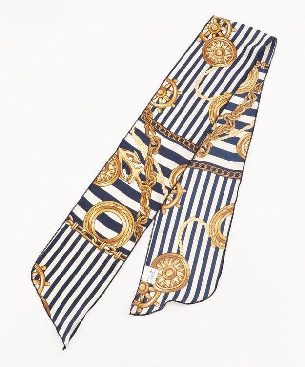 any FAM マリンモチーフ ナロースカーフ