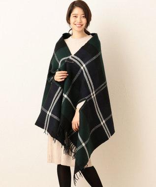 any FAM 【ストールピン付】Wフェイス ポンチョ ストール グリーン系5