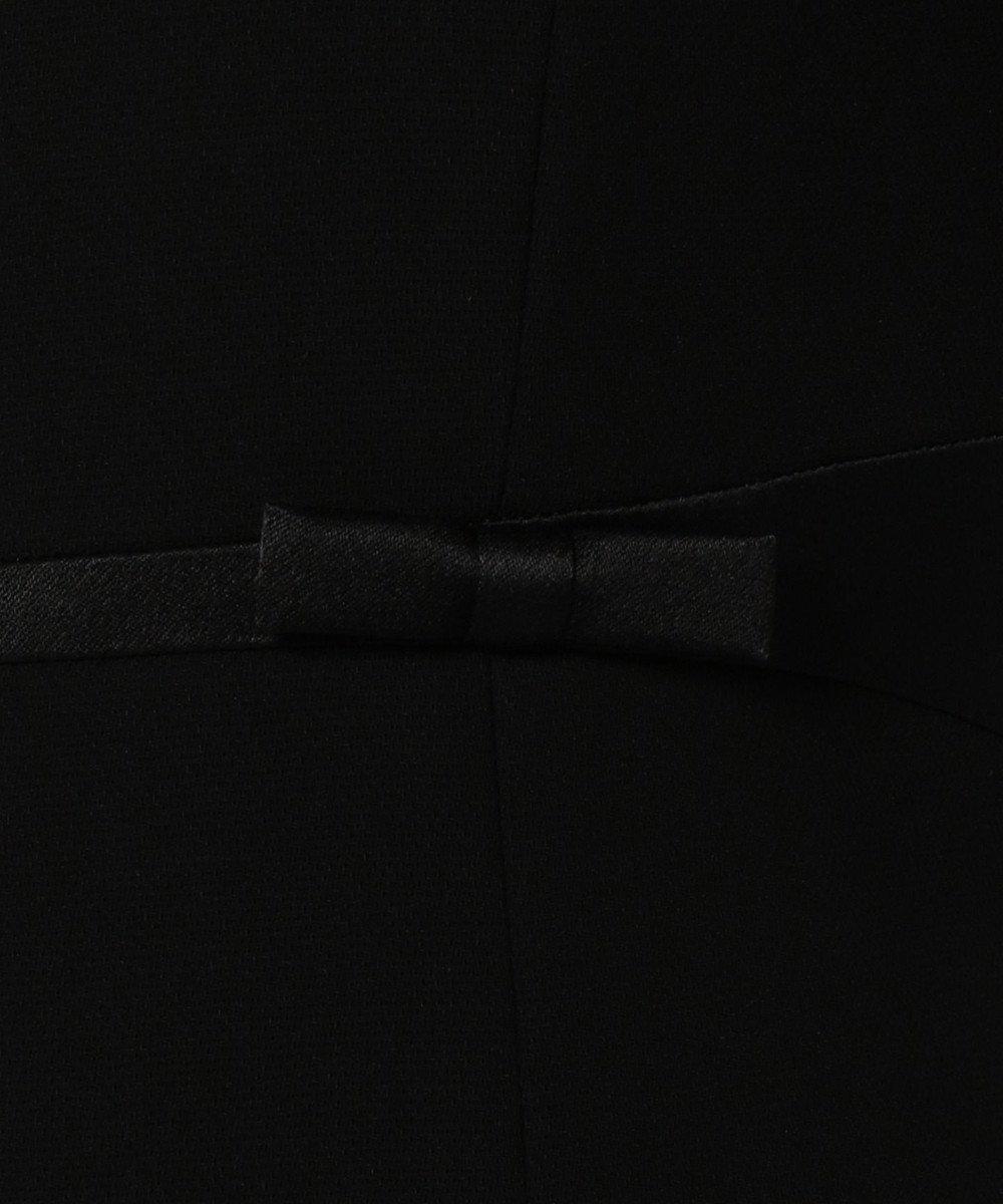 組曲 NOIR 【夏対応】ガーシュバーズアイ ジャケット+ワンピース  (ウエストリボン) ブラック系
