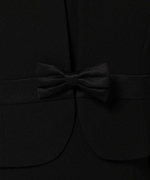 組曲 NOIR 【夏対応】ガーシュバーズアイ ジャケット+ワンピース  (ウエストリボン)