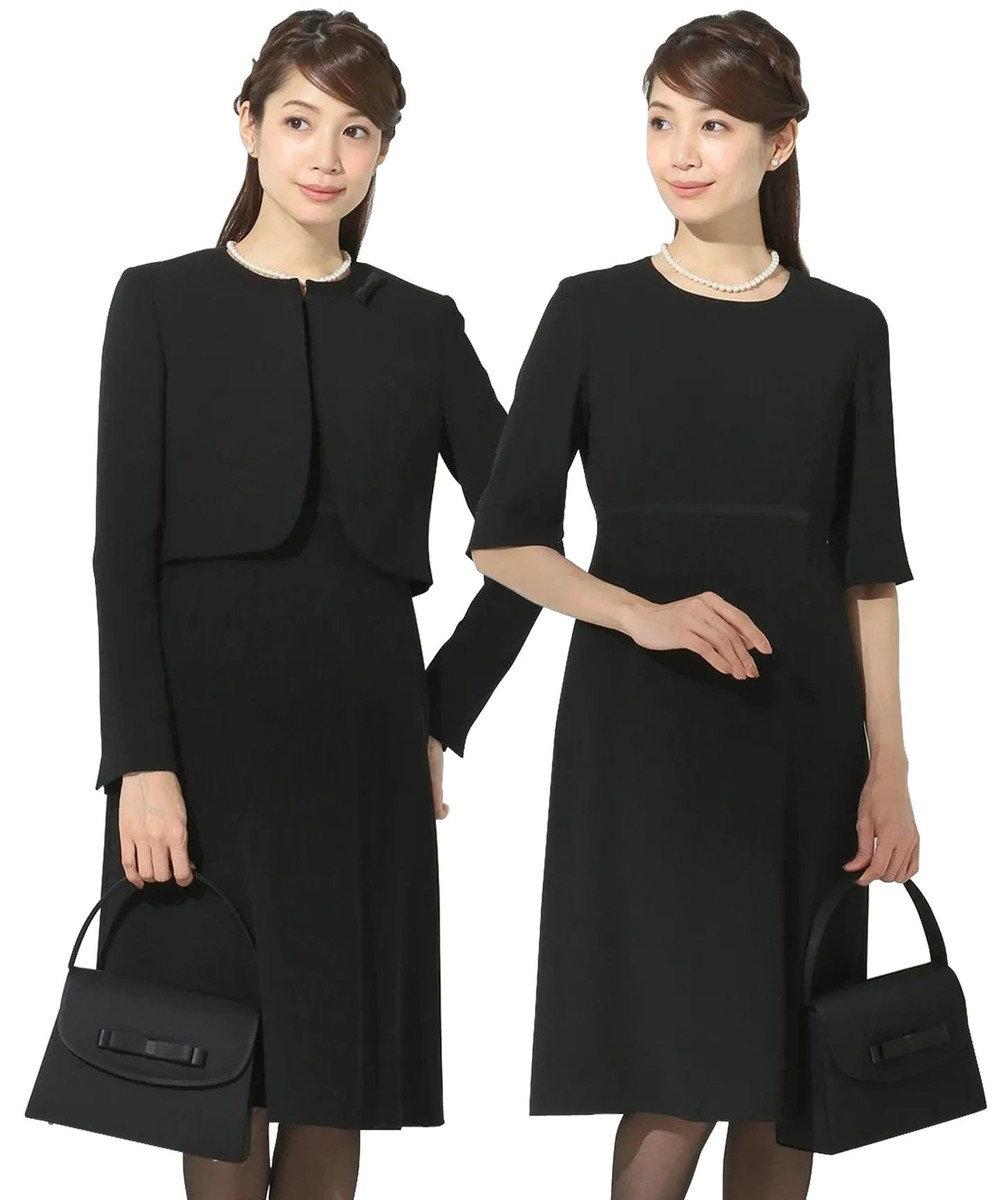 組曲 NOIR モランナ経二重 ジャケット+ワンピース ブラック系