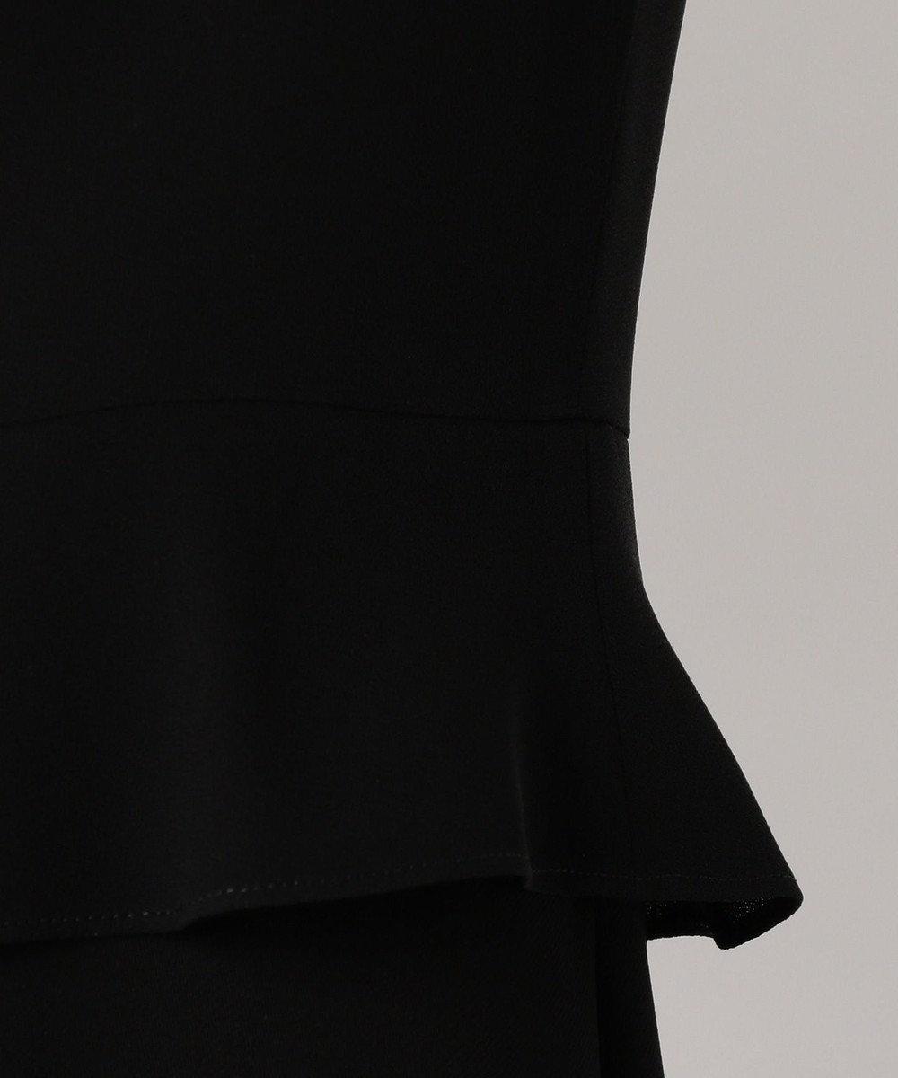 組曲 NOIR 【ストレッチ】綾二重 ジャケット+ワンピース ブラック系