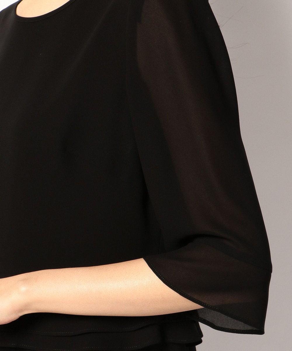 自由区 FORMAL 【オールシーズン対応】バーズアイ ジャケット+ワンピース ブラック系