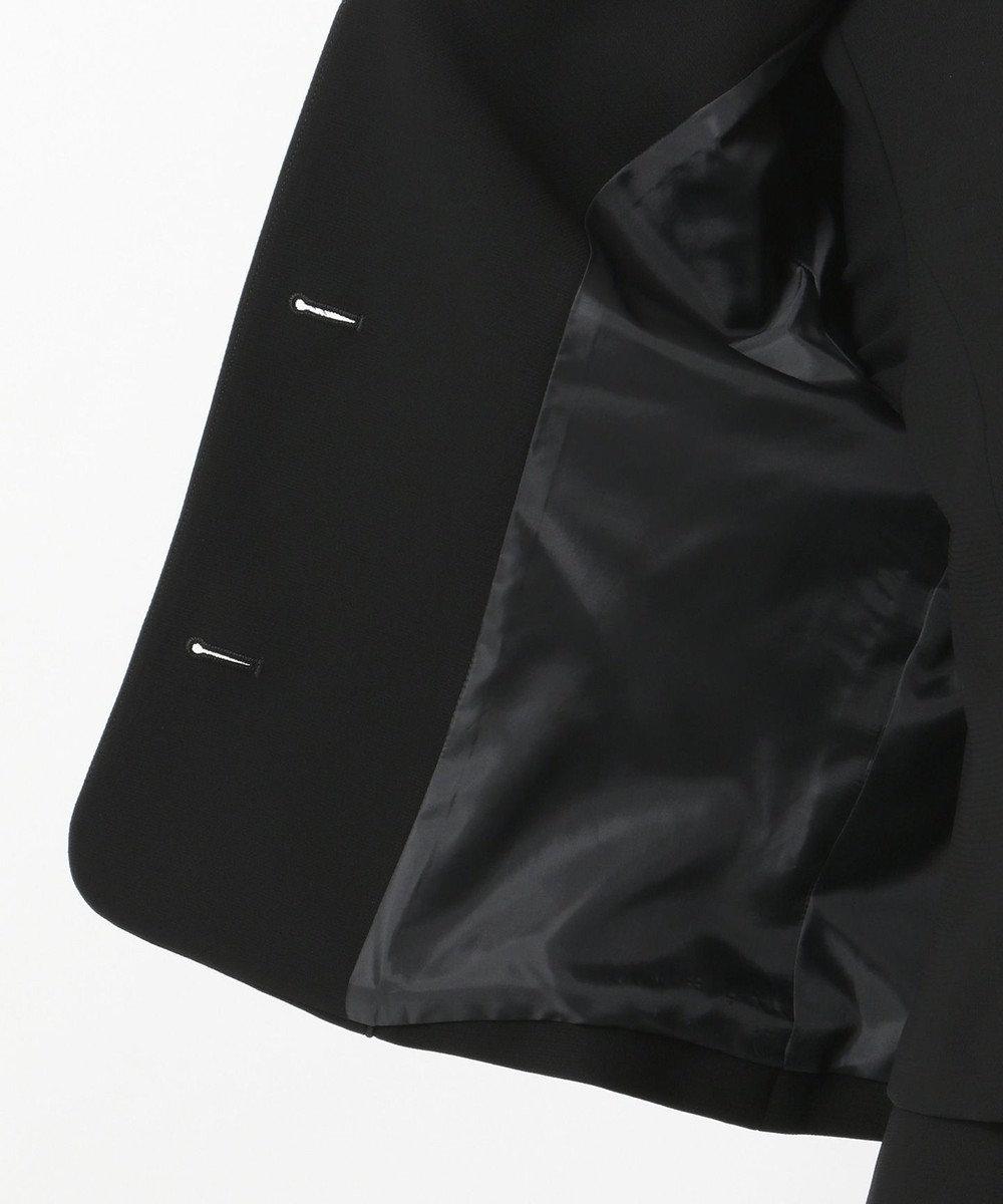 自由区 FORMAL 【洗える】ネルファータストレッチハチス ジャケット+ワンピース ブラック系