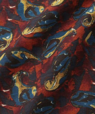 JOSEPH ABBOUD 【Made in Italy】アーカイブペイズリー チーフ オレンジ系5