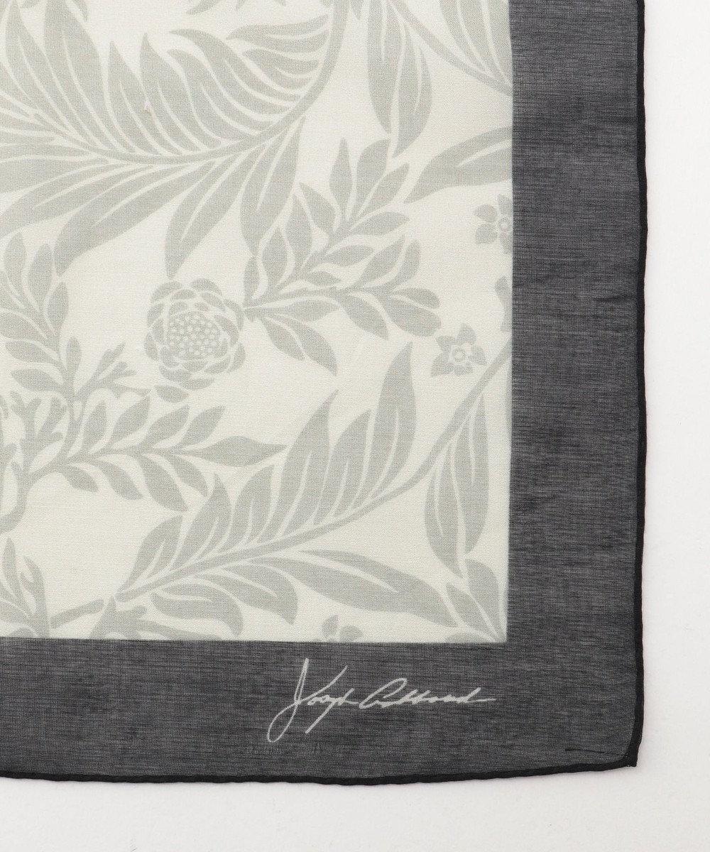JOSEPH ABBOUD 【Made in Italy】ジャングルリーフ スカーフ ベージュ系5