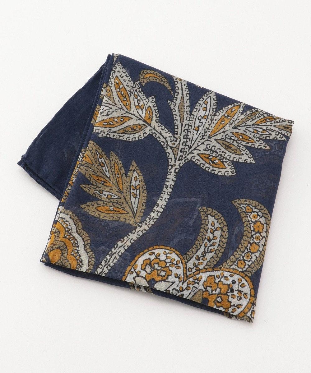 JOSEPH ABBOUD 【Made in Italy】ペイズリープリント スカーフ ブルー系5