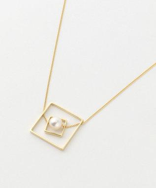 自由区 【マガジン掲載】スクエアパールネックレス(検索番号A74) ゴールド系