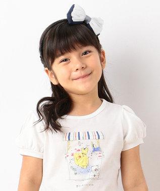 組曲 KIDS 【KIDS雑貨】ラメジュエルリボンカチューシャ ネイビー系