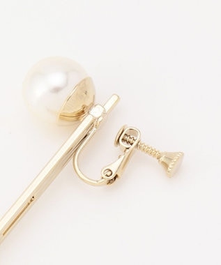 ICB 【Utilism】Bar Pearl イヤリング ゴールド系