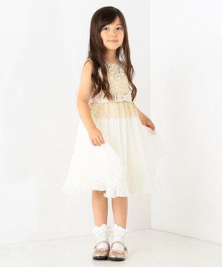 TOCCA BAMBINI 【KIDS雑貨】ドロップパールフラワーネックレス ライトグレー系