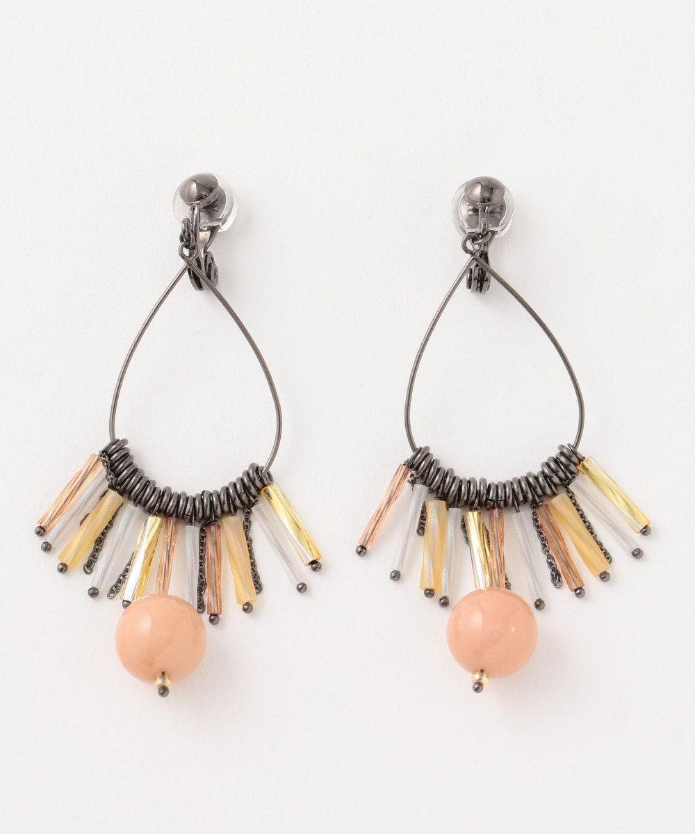 TOCCA 【TOCCA LAVENDER】TASSEL HOOP earrings イヤリング ベージュ系