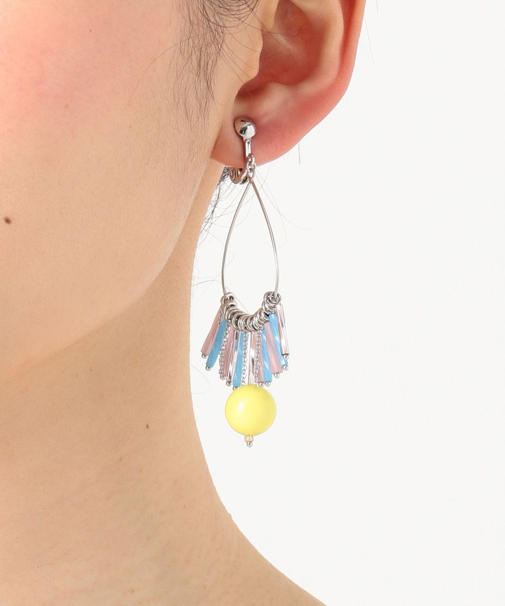 TOCCA 【TOCCA LAVENDER】TASSEL HOOP earrings イヤリング イエロー系