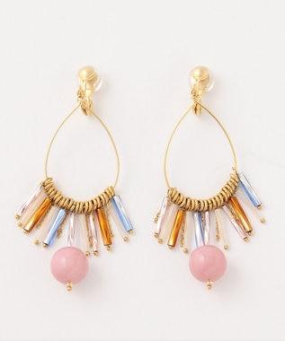 TOCCA 【TOCCA LAVENDER】TASSEL HOOP earrings イヤリング ライラック系
