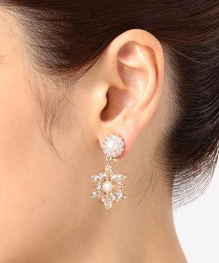 TOCCA GLITTER EARRINGS イヤリング ピンク系