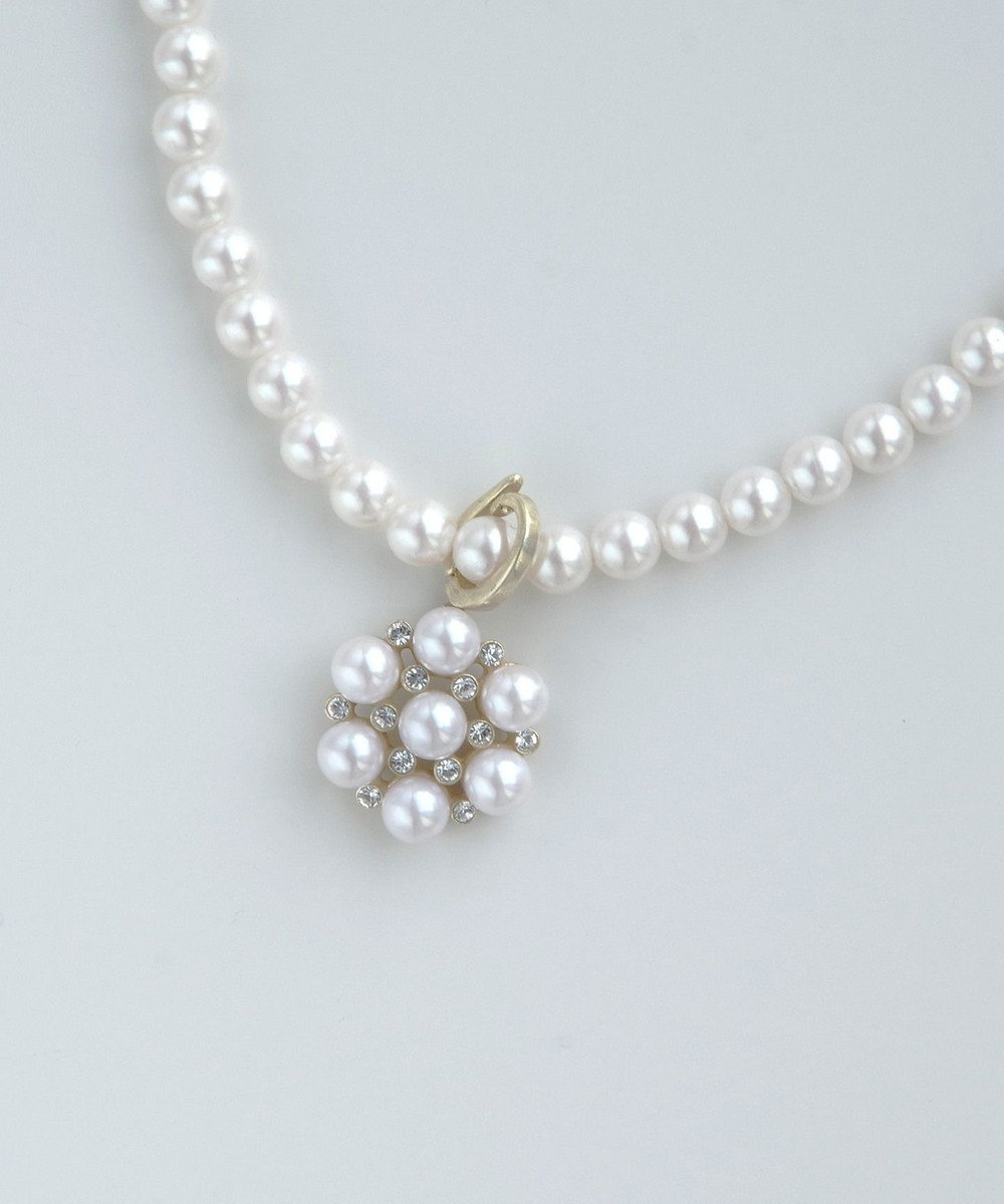 TOCCA JANES GARDEN PEARL NECKLACE ネックレス アイボリー系