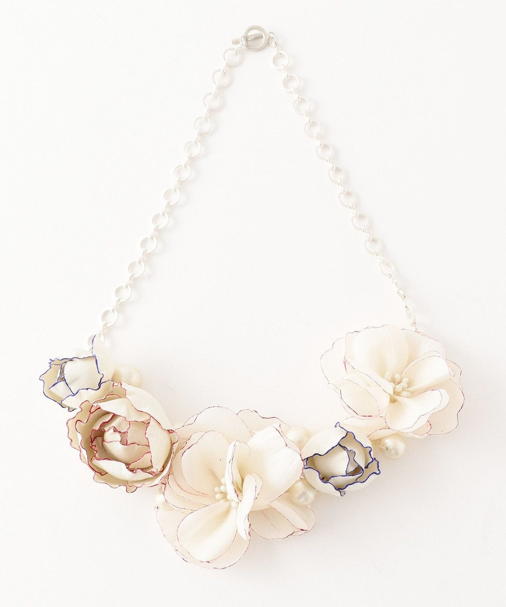 TOCCA ATERIER SENKA COSAGE FLOWER NECKLACE ネックレス ピンク系