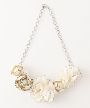 TOCCA ATERIER SENKA COSAGE FLOWER NECKLACE ネックレス ブラック系