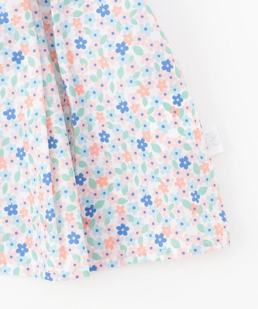 組曲 KIDS フラワープリント お食事エプロン ピンク系5