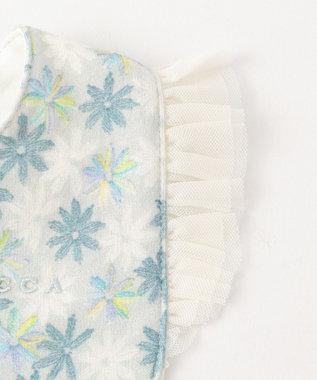 TOCCA BAMBINI 【BABY雑貨】KEY FLOWER ビブ サックスブルー系5