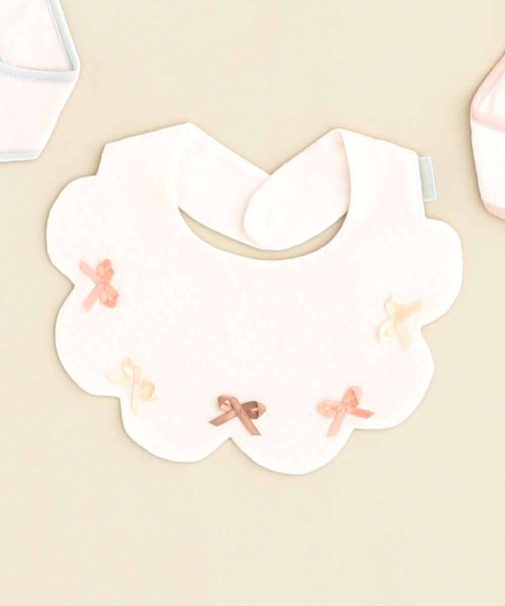 TOCCA BAMBINI 【BABY雑貨】プティリボン ビブ ホワイト系