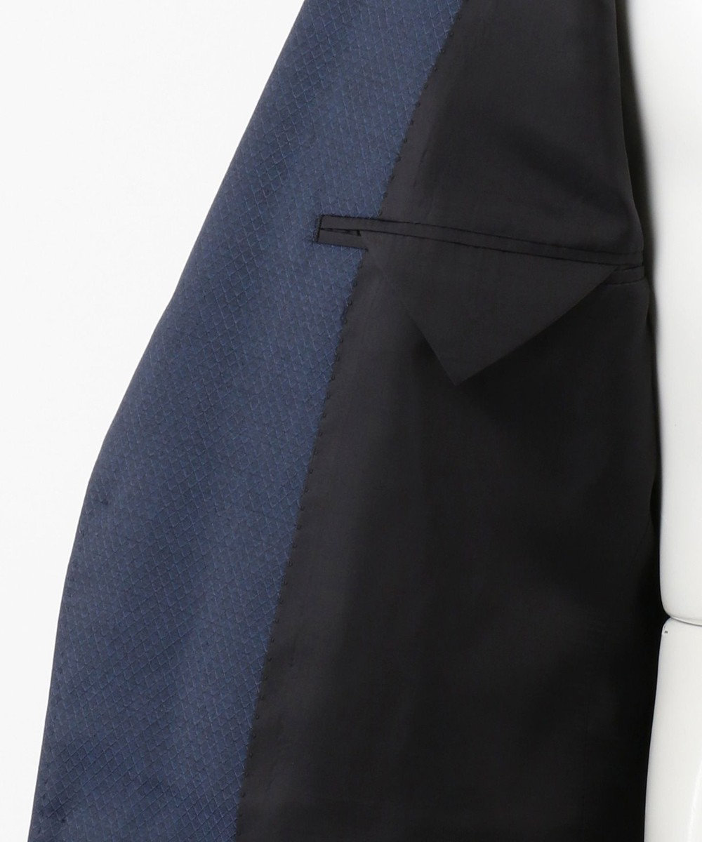 CK CALVIN KLEIN MEN 【スーツ】ミニスターウール 3Dダイヤドビー ジャケット ネイビー系