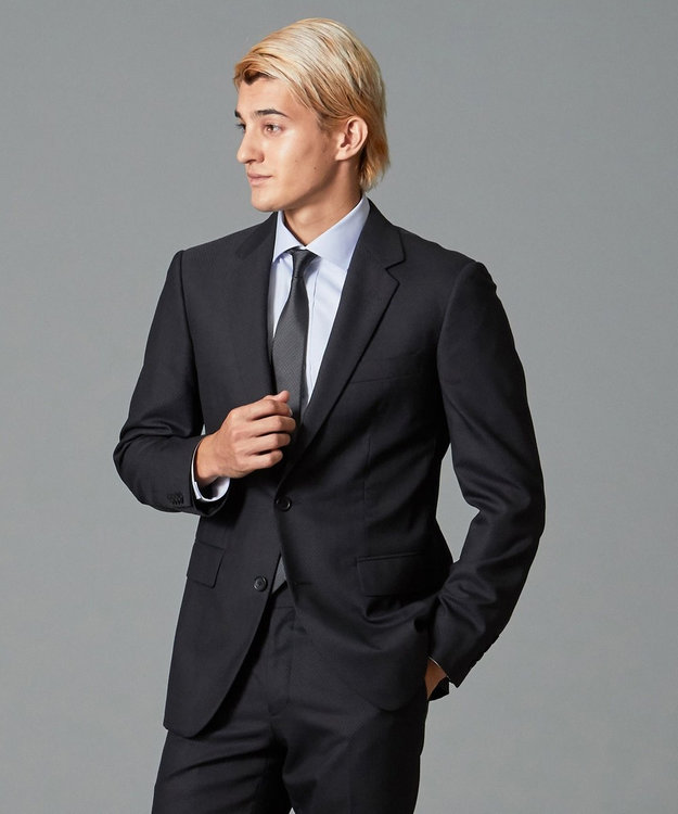 CK CALVIN KLEIN MEN 【スーツ】ミニスターウール 3Dダイヤドビー ジャケット