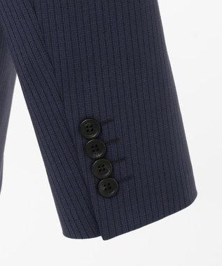 CK CALVIN KLEIN MEN 360パワードストレッチストライプ スーツジャケット ネイビー系1