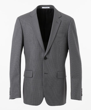 CK CALVIN KLEIN MEN 360パワードストレッチストライプ スーツジャケット ライトグレー系1