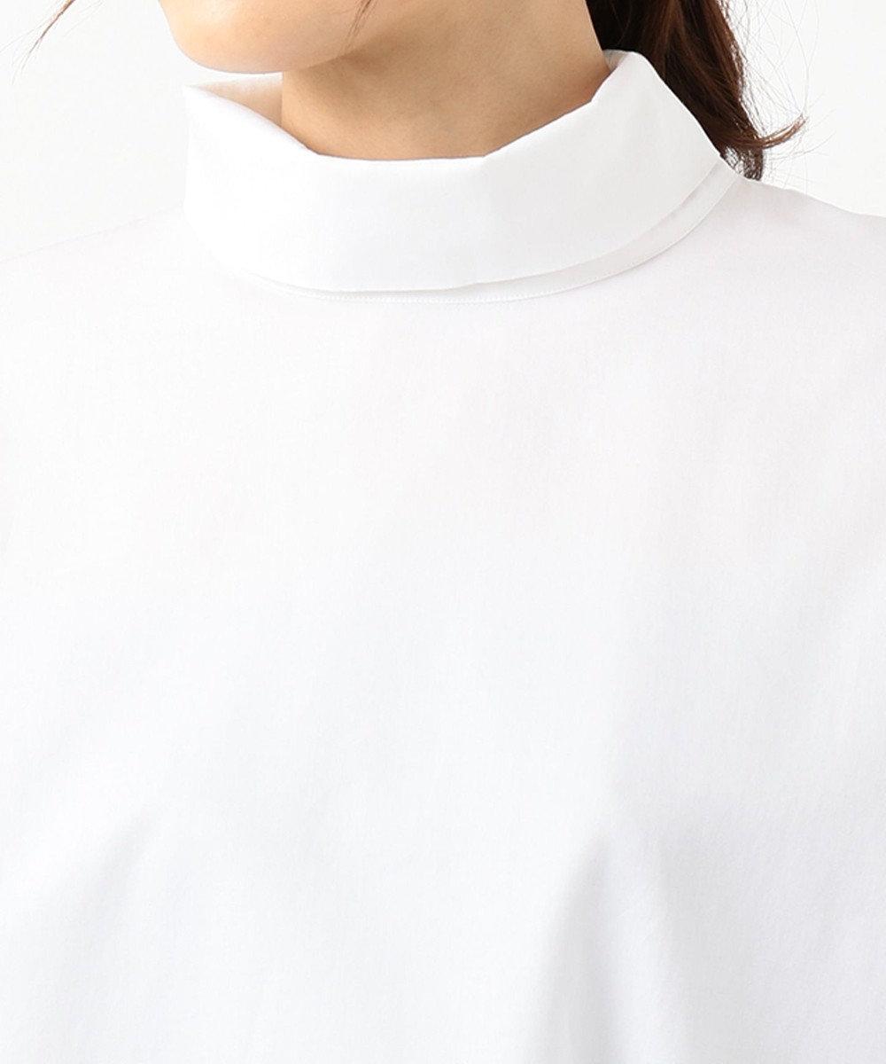 23区 L 【洗える】CANCLINIスタンドカラー ブラウス ホワイト系
