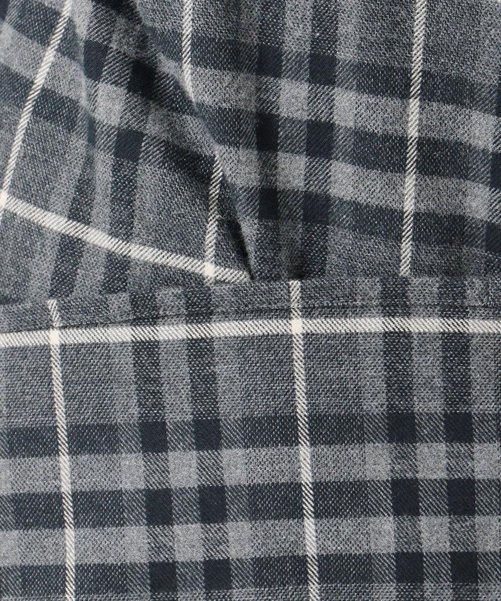 23区 L CANCLINIメルトン チェックシャツ ライトグレー系1