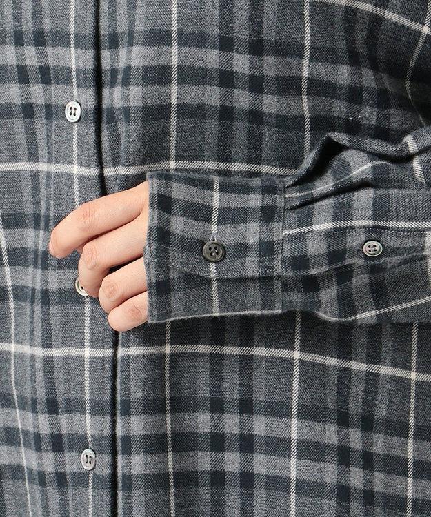 23区 L CANCLINIメルトン チェックシャツ
