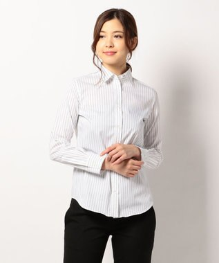 ICB L Cotton Shirting シャツ ネイビー系1