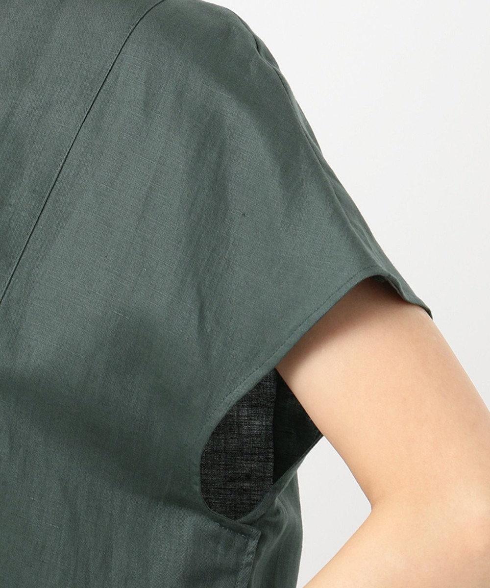 ICB L Soft Linen ブラウス グリーン系