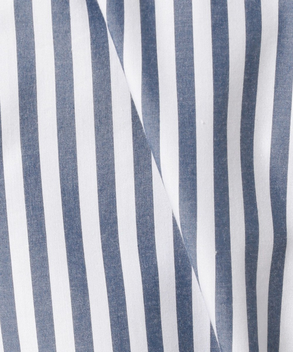 ICB 【洗える】Soft Cotton ビジューブラウス ダルブルー系1