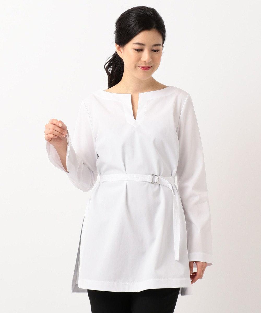 ICB Sleek Cotton ブラウス ホワイト系