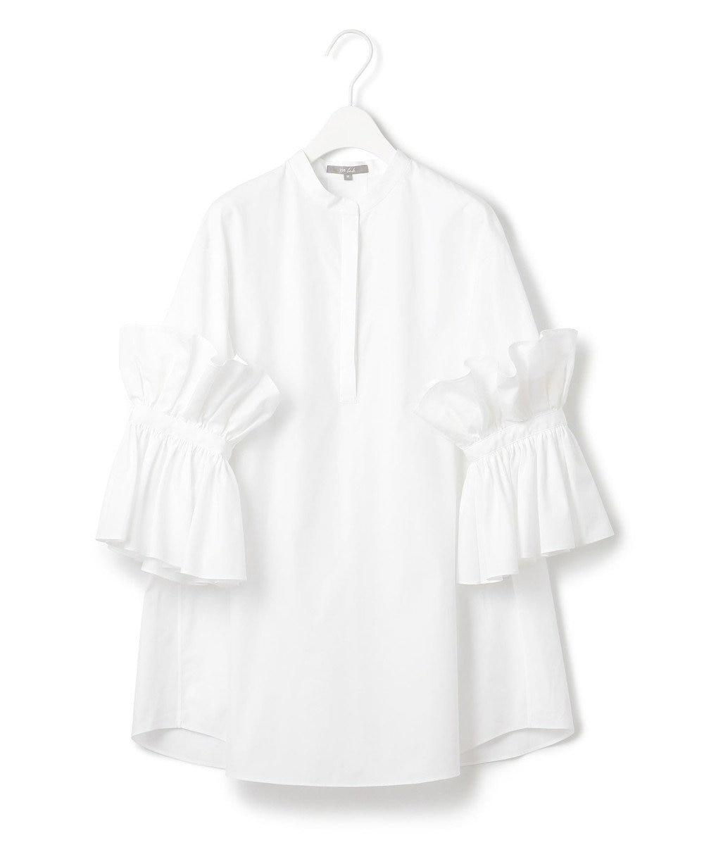 23区 【23区 lab.】ハイカウントブロード 七分袖デザイン ブラウス(番号S52) ホワイト系