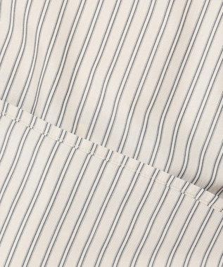 any FAM L 【UVケア】【抗菌防臭】マルチファンクションストライプフリル ブラウス ベージュ系1