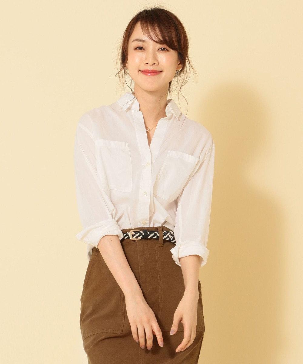 any FAM L コットンガーメントダイ シャツ ホワイト系