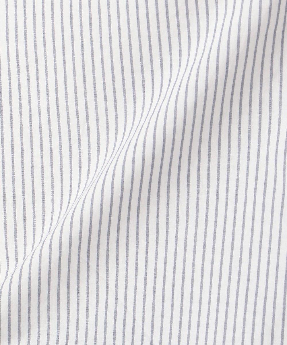 any FAM L 【WEB限定】ストライプバックレース刺繍 ブラウス ネイビー系1