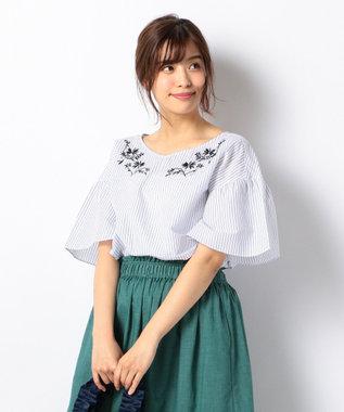 any FAM 【洗える!】ノルマンディリネン刺繍 ブラウス ホワイト系1