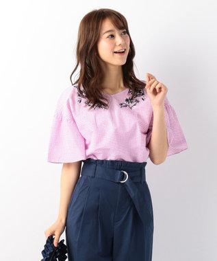 any FAM 【洗える!】ノルマンディリネン刺繍 ブラウス ピンク系3